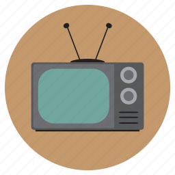 antenna, grey, old, screen, television, tv, vintage icon