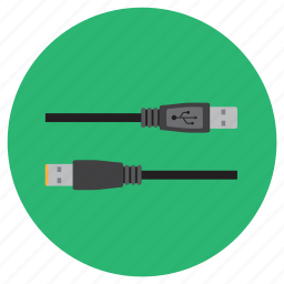 cable, compatibility, couple, electronic, usb icon