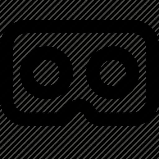 goggles, virtual reality icon