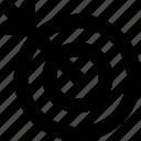 dart, dartboard, goal, shooting, target icon