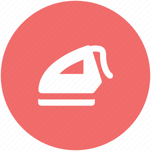 domestic tool, electrical, home appliance, iron, ironing, laundry icon