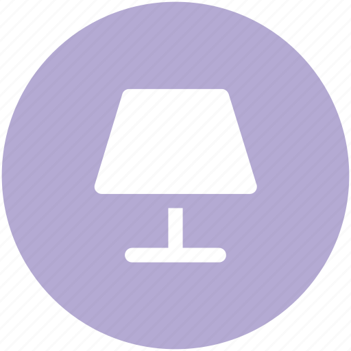 bedside lamp, electric lamp, interior lamp, lamp, lamp light, light, table lamp icon