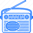 appliances, electronics, gadget, radio, retro, technology icon
