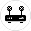 antenna, double, tech icon
