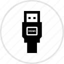 electronics, gadget, hdmi icon