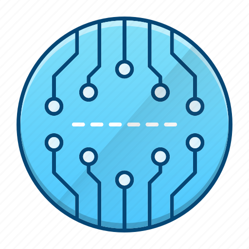 abstract, board, circuit, processor icon