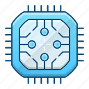 abstract, cpu, hard, processor, technology icon