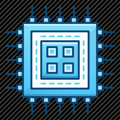 computer, cpu, hardware, microchip, processor, technology icon