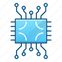 circuit, component, cpu, processor icon