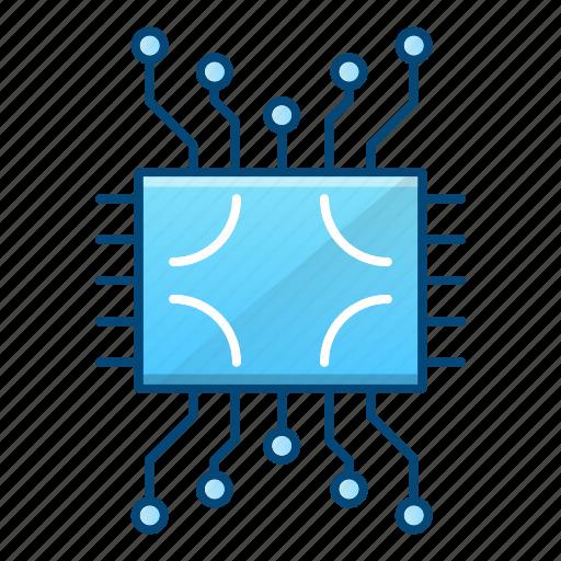 circuit, component, cpu, processor icon