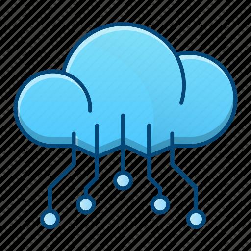 cloud, computing, data, storage, technology icon