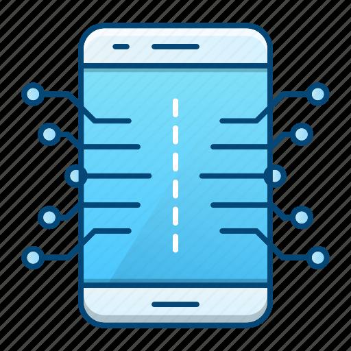 device, electronics, mobile, smartphone icon