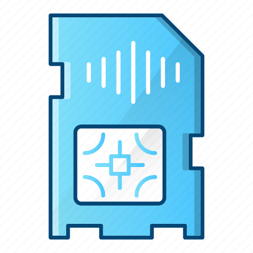 card, communication, mobile, sim icon