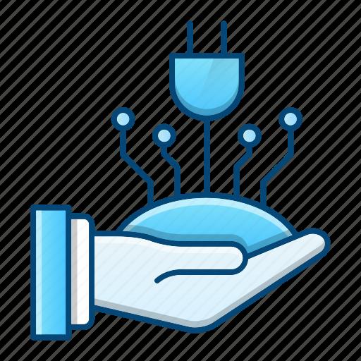 electronic, energy, power, save icon