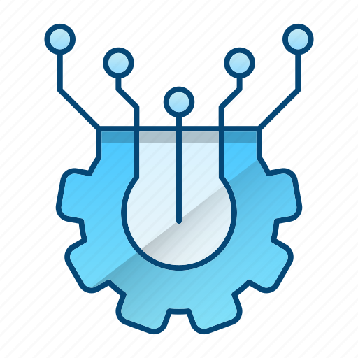circuit, electronics, elements, machine icon