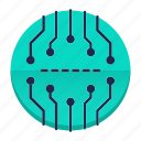 abstract, board, chip, cpu, electronics, processor icon