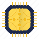 abstract, chip, cpu, device, electronics, gadget, technology icon