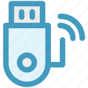data, device, disk, storage, usb, wireless icon