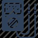 ammeter, ampere meter, digital meter, meter, voltmeter icon