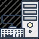 computer, desktop pc, keyboard, power pc, workstation icon