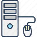 computer, desktop pc, gamepad, mouse, pc tower icon