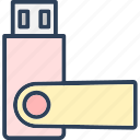drive, flash, memory stick, pen drive, usb icon
