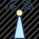 communication tower, signal tower, wifi antenna, wifi tower, wireless antenna icon