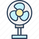 air, cool, cooler, fan, pedestal fan icon