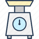 food scale, kitchen scale, weighing scale, weight machine, weight scale icon