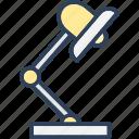 desk lamp, desk light, electric lamp, lamp light, table lamp icon