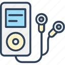 device, ipod, mp4 player, music player, walkman icon