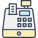 cash register, cash till, invoice machine, pos, till machine icon