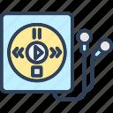 device, ipod, mp4 player, music player, walkman icon