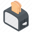 bread toaster, electric toaster, oven, toaster, toaster oven icon