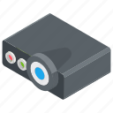 hd projector, mini projector, multimedia, projector, projector device icon