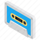 audio cassette, cassette, cassette tape, music cassette, plastic cassette icon