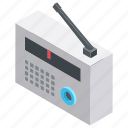audio device, musical radio, radio, radio fm, retro radio icon