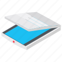 computer scanner, document scanner, scanner, input device, flatbed scanner icon