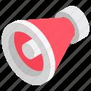 audio device, bullhorn, bullhorn megaphone, loudspeaker, megaphone icon