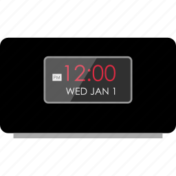 alarm, audio, clock, music, time, up, wake icon