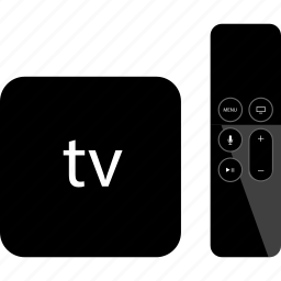 apple, control, device, gadget, remote, tv icon