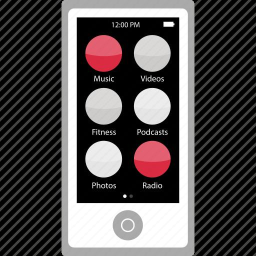 apple, audio, device, ipod, listen, music, nano icon