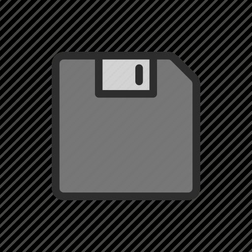 disk, floppy, gadget, memory, old, storage, write icon