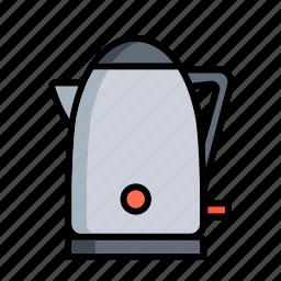 hot, kettle, kitchen, pot, tea, teakettle, teapot icon