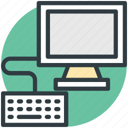 computer, computer devices, computer keyboard, lcd, monitor icon