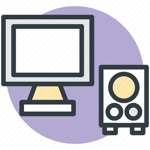 computer, computer devices, lcd, monitor, speaker icon