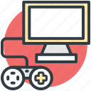 computer, computer devices, gamepad, lcd, monitor icon
