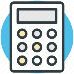 accounting, calculating device, calculator, digital calculator, office supplies icon