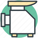electronics, home appliance, kitchen tool, meat grinder, mincing machine icon