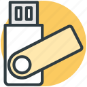 flash drive, memory stick, pen drive, usb, usb stick icon